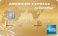 Carte American Express Air Tahiti Nui.Carte Air Tahiti Nui American Express Gold